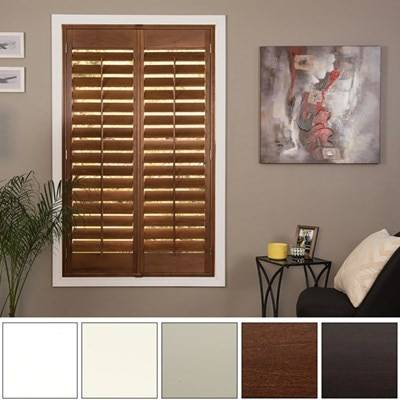 JustBlinds.com Affordable Custom Shutters - Wood or Faux Wood - Rich Colors