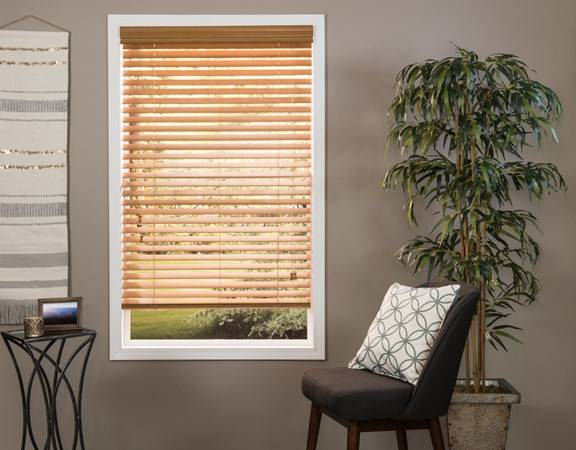 JustBlinds.com Custom Wood Blinds - Rich Color Options - American Basswood