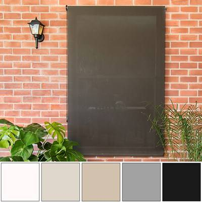 JustBlinds.com Custom Outdoor Shades - Block UV Rays - 1%-10% Openness