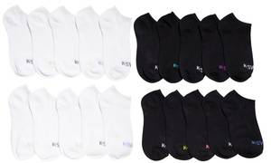 K-SWISS Women's Ankle Low Cut Sports Running Cushioned Athletic Socks (10- or 20-Pack)