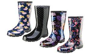 Sloggers Women's Waterproof Garden and Rain Boots