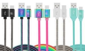LAX Gadgets Premium Obsession-Series USB-C to USB-A Cable (1-, 2-, or 3-Pack)