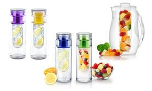 InFuzeH20 Fruit-Infuser Water Bottle or Pitcher (1- or 2-Pack)