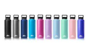 HydraPeak Wide-Mouth Stainless Steel Water Bottle (22 Oz. or 40 Oz.)