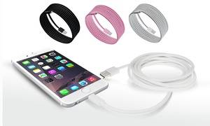 Apple 6-Foot Apple-Certified Lightning Cable for iPhone (1-, 2-, or 3-Pack)