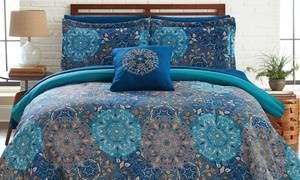 Reversible Bed Set with Sheets (6-or-8-Piece)