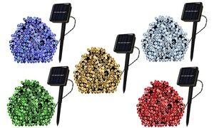 100 LED Solar-Powered Christmas Fairy String Lights (1-, 2-, or 4-Pack)