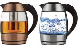 Brentwood Appliances Tempered Glass Electric Tea Kettle with Infuser