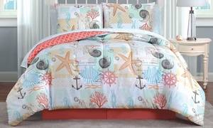 Coastal Print Quilt or Bed-in-a-Bag Sets (Multiple Options Available)