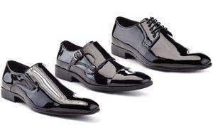 Franco Vanucci Men's Faux Patent-Leather Tuxedo Dress Shoes