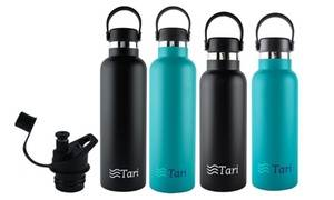 Tari Insulated Leakproof Water Bottle with Handle Lid (18 or 25 Oz.)