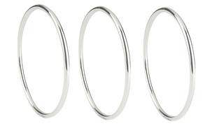 Women's Italian Sterling Silver Bangle by Verona (1-, 2-, or 3-Pack)