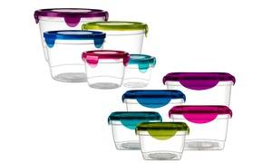 Plastic Lock-and-Seal Food Storage Set with Lids (6, 10, 12 or 20-Piece)