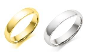 Stainless Steel Wedding Band For Men and Women (1- or 2-Pack)