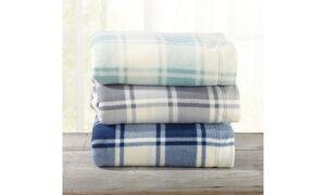 Great Bay Home Soft Plaid Fleece Sheet Sets (3- or 4-Piece)