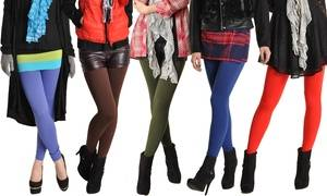 Angelina Women's Winter-Weight One Size Fleece-Lined Leggings (1- or 6-Pack)