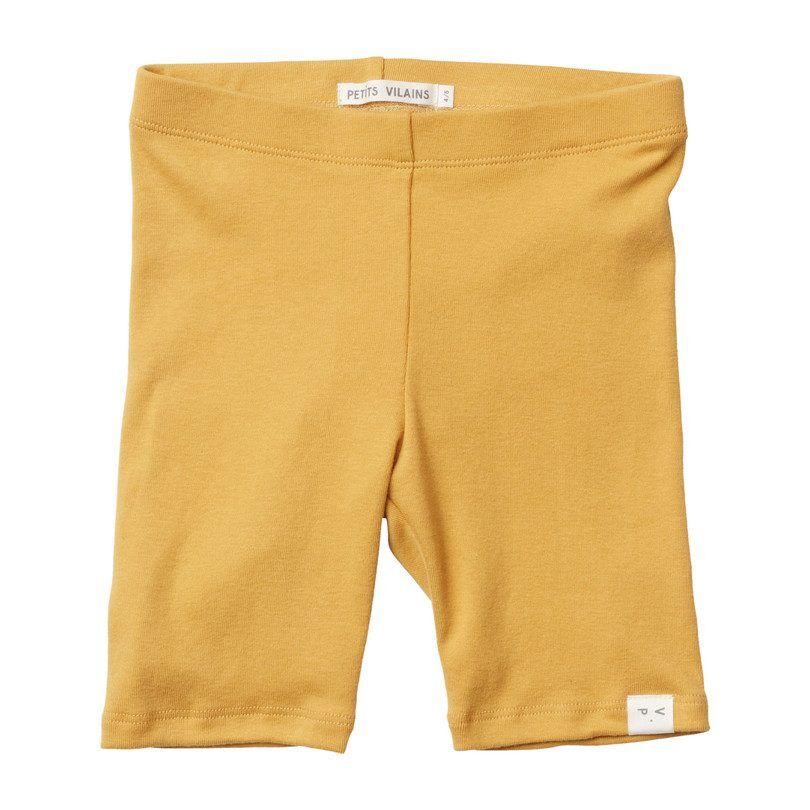 Petits Vilains Laure Bike Short, Miel  - Yellow - Size: 18-24m