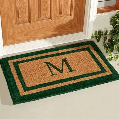 "Geo Crafts, Inc. ""Double Border Outdoor Mat Green, 2'6"""" x 4', Green"""