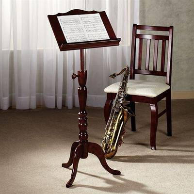 Touch of Class Aubrie Music Stand Adjustable Classic Cherry , Classic Cherry