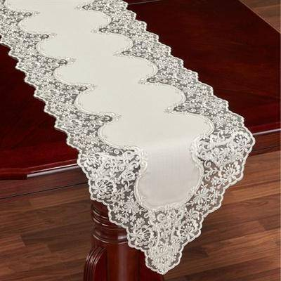 Touch of Class Evangelina Table Runner Ivory, 16 x 92, Ivory
