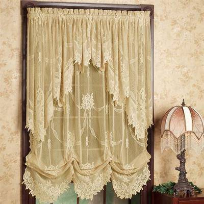 Touch of Class Garland Lace Balloon Shade 56 x 84, 56 x 84, Gold