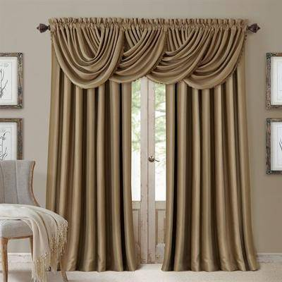 Elrene Home Fashions Solstice Curtain Panel, 52 x 95, Light Taupe