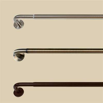 """Versailles Home Fashions """"Block Out Wrap Around Curtain Rod, 66"""""""" to 120"""""""", Espresso"""""""