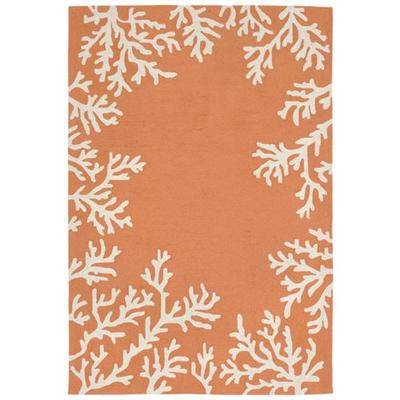 "Trans Ocean Import Co Inc ""Coral Border Rectangle Rug, 7'6"""" x 9'6"""", Light Rust"""