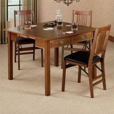 Meco Corporation Mission Convertible Table Fruitwood , Fruitwood