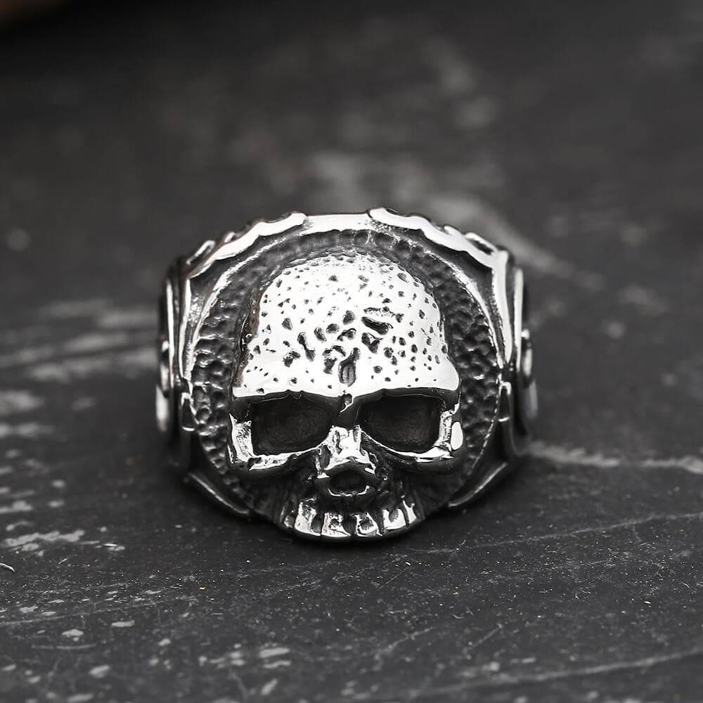 Gothic Tooth Fairy Skull Ring, 14.5