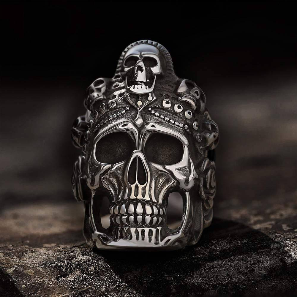 Satan Muerte Death Skull Ring, 10.5