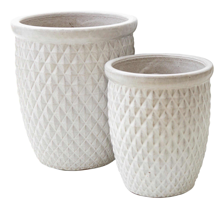 White Diamond Pots