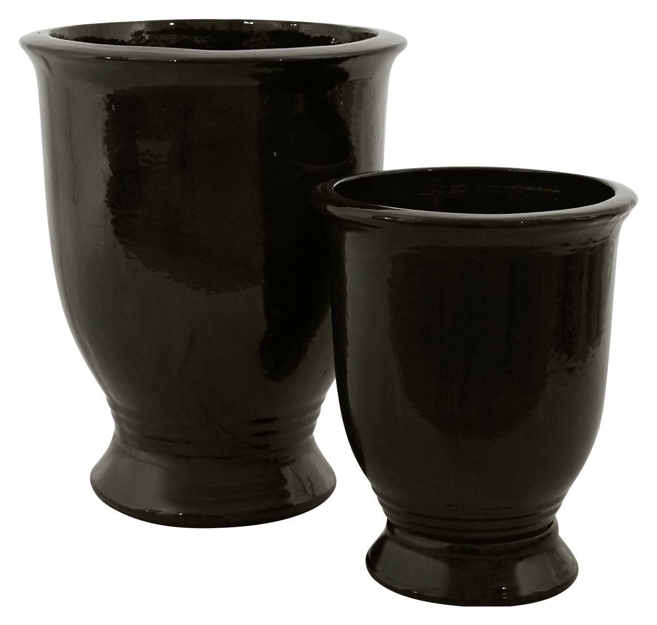 Black Simple Urns