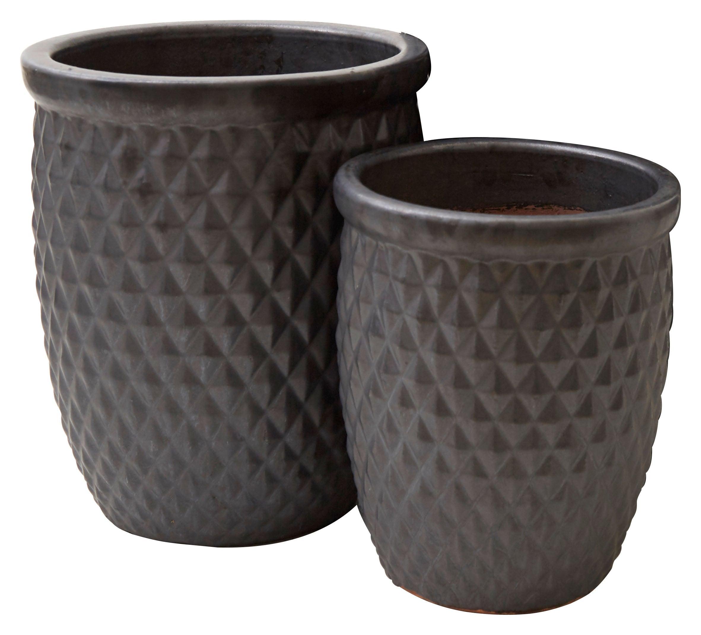 Gunmetal Diamond Pots