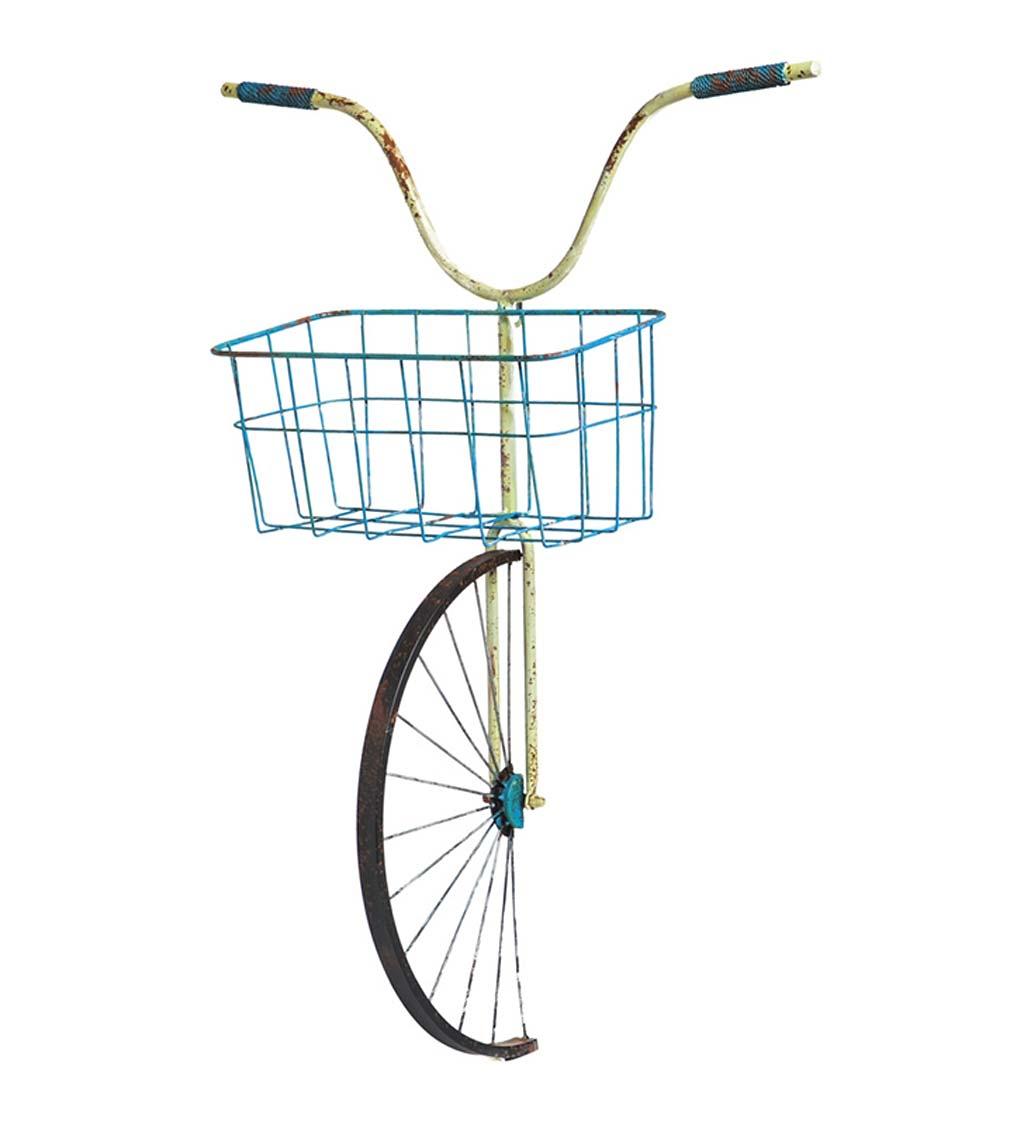 EVERGREEN ENTERPRISES INC. Metal Bike Basket Hanging Planter