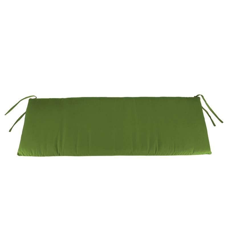 "JORDAN MANUFACTURING CO INC 60"" x 16 1/2"" Sunbrella Classic Outdoor Bench Cushion, Cilantro"