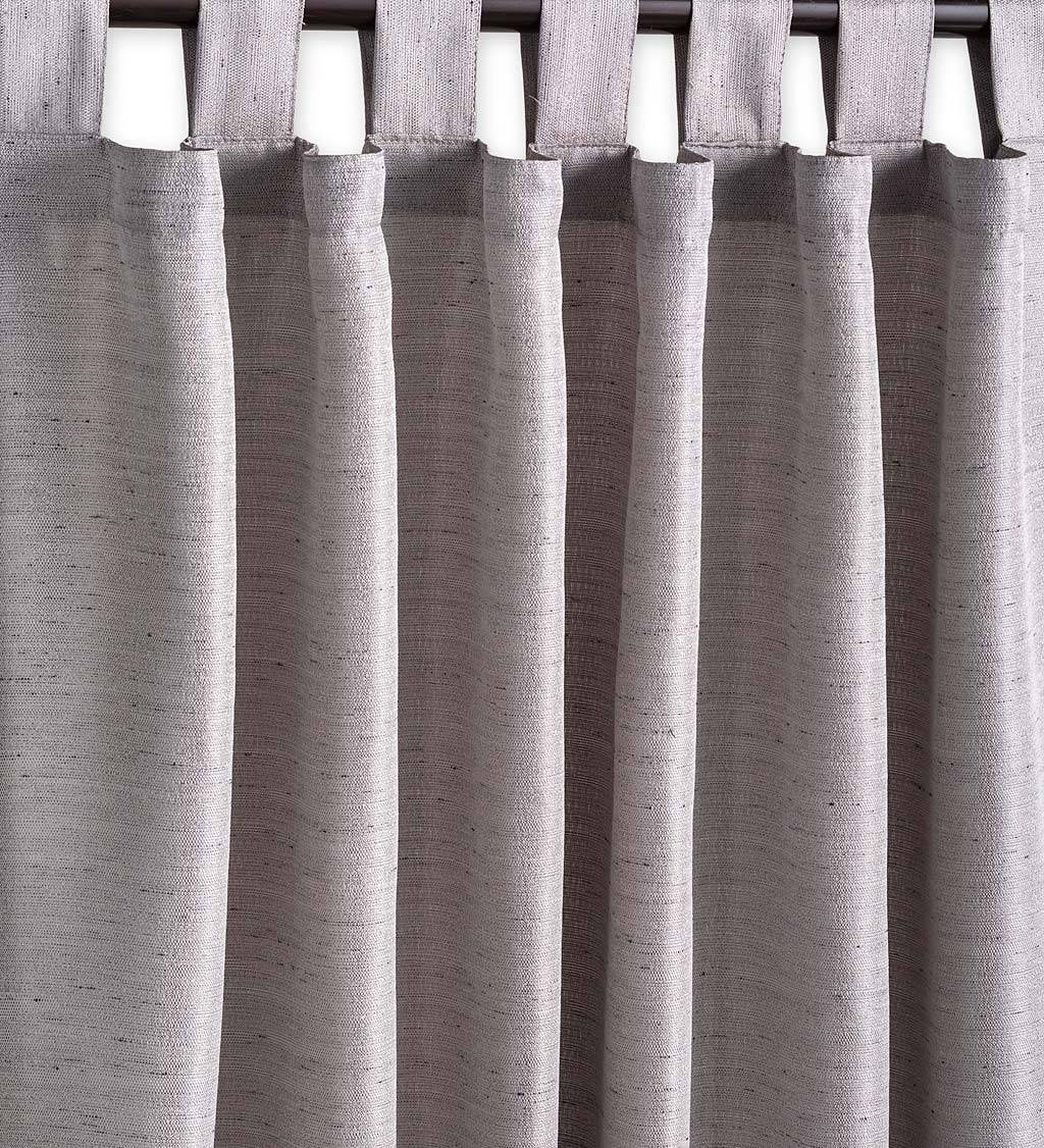 """RICARDO TRADING LLC Grasscloth Outdoor Curtain Panel with Tab Top, 54""""W x 84""""L"""