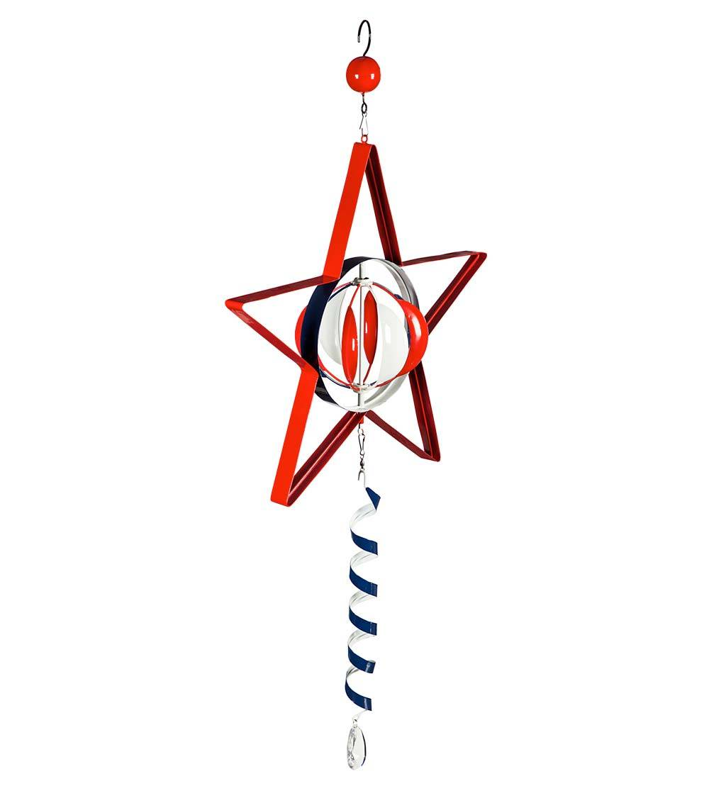EVERGREEN ENTERPRISES INC. Americana Star Hanging Wind Twirler