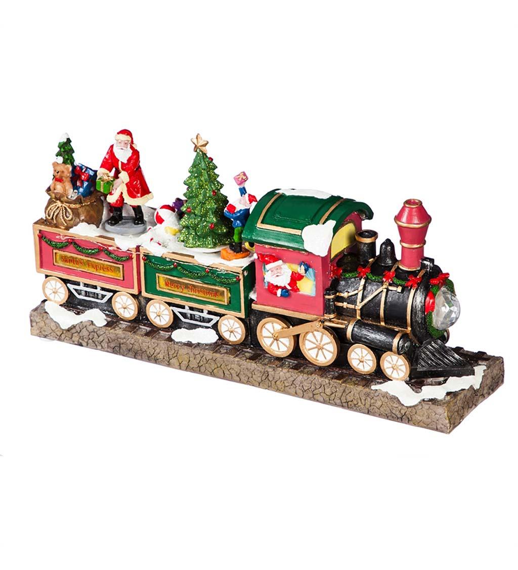 EVERGREEN ENTERPRISES INC. LED Musical Christmas Train Decor