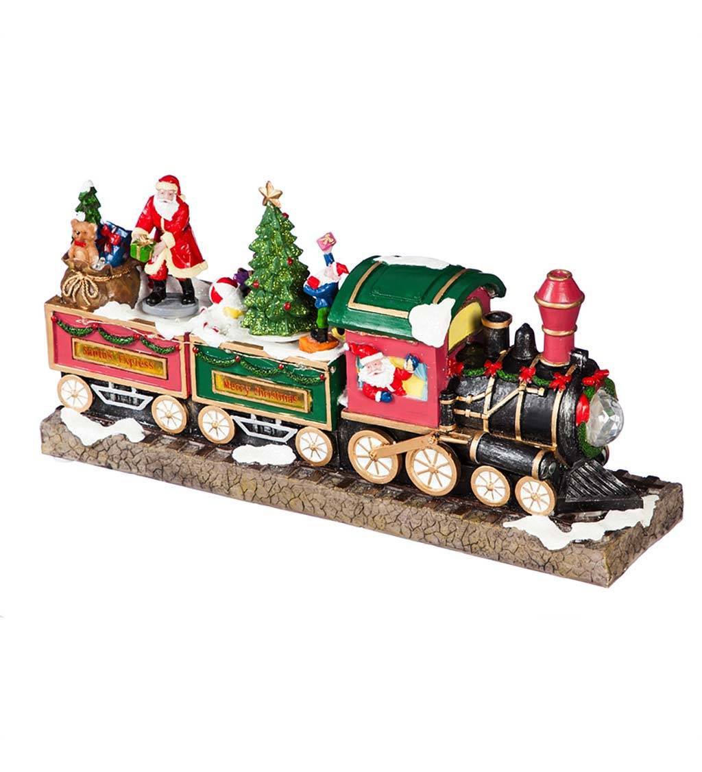 EVERGREEN ENTERPRISES INC. LED Musical Christmas Train Decor