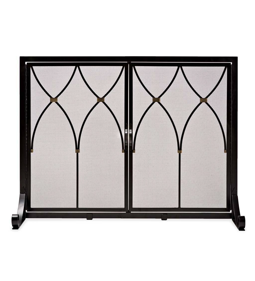 HONG KONG ZHUOHONG TRADING CO.,LTD. Small Winchester Fireplace Screen with Doors
