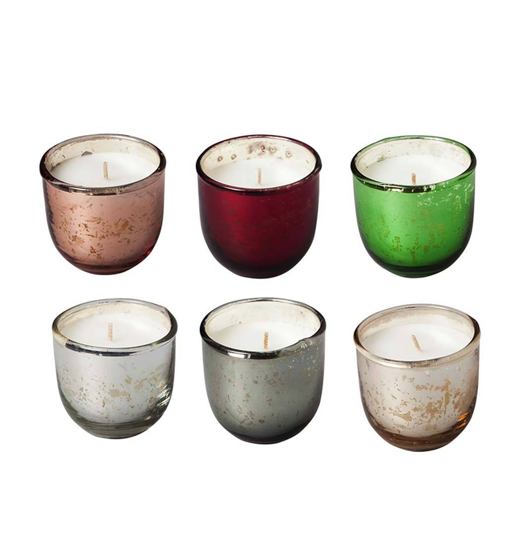EVERGREEN ENTERPRISES INC. Mixed Colored Metal Candle Gift Set, Set of 6