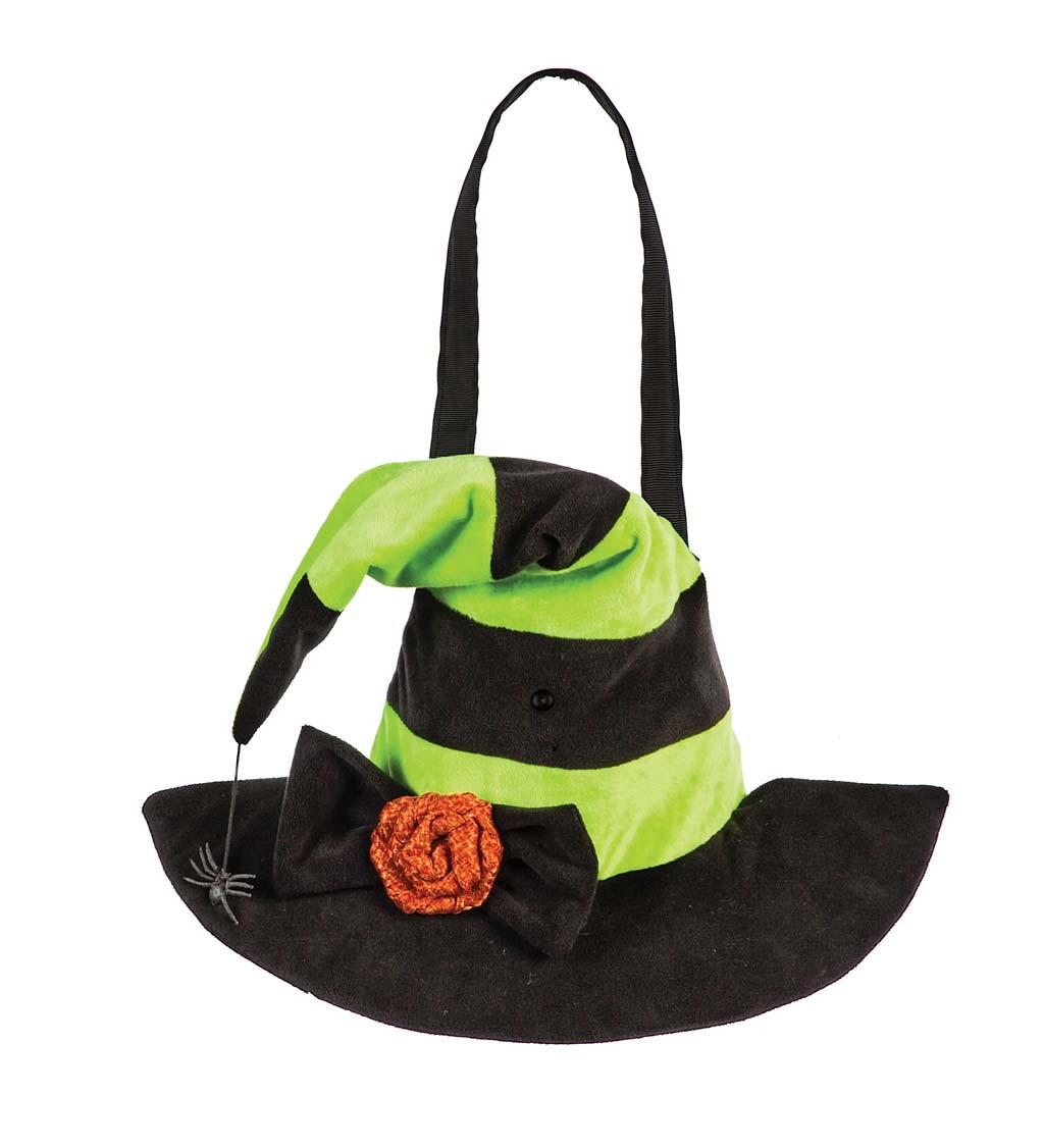 EVERGREEN ENTERPRISES INC. Halloween Witch Hat Burlap Motion-Activated Door Decor