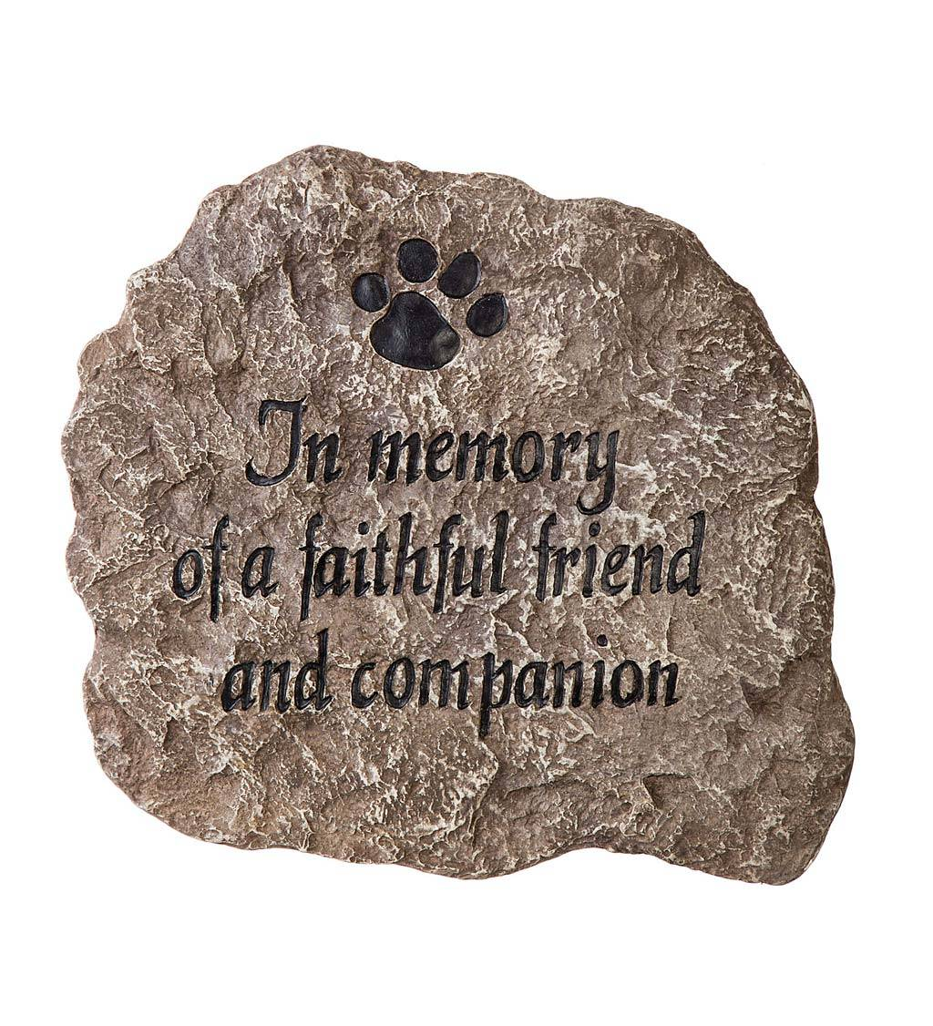 EVERGREEN ENTERPRISES INC. In Memory of a Faithful Friend and Companion Garden Stone