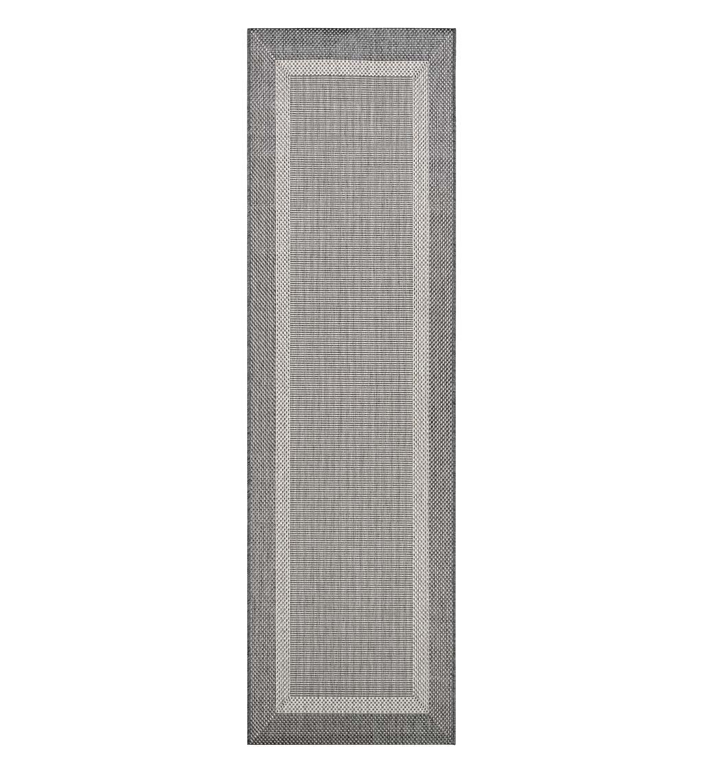 """COURISTAN Veranda Framework Indoor/Outdoor Polypropylene Rug, 2'3"""" x 11'9"""" Runner"""