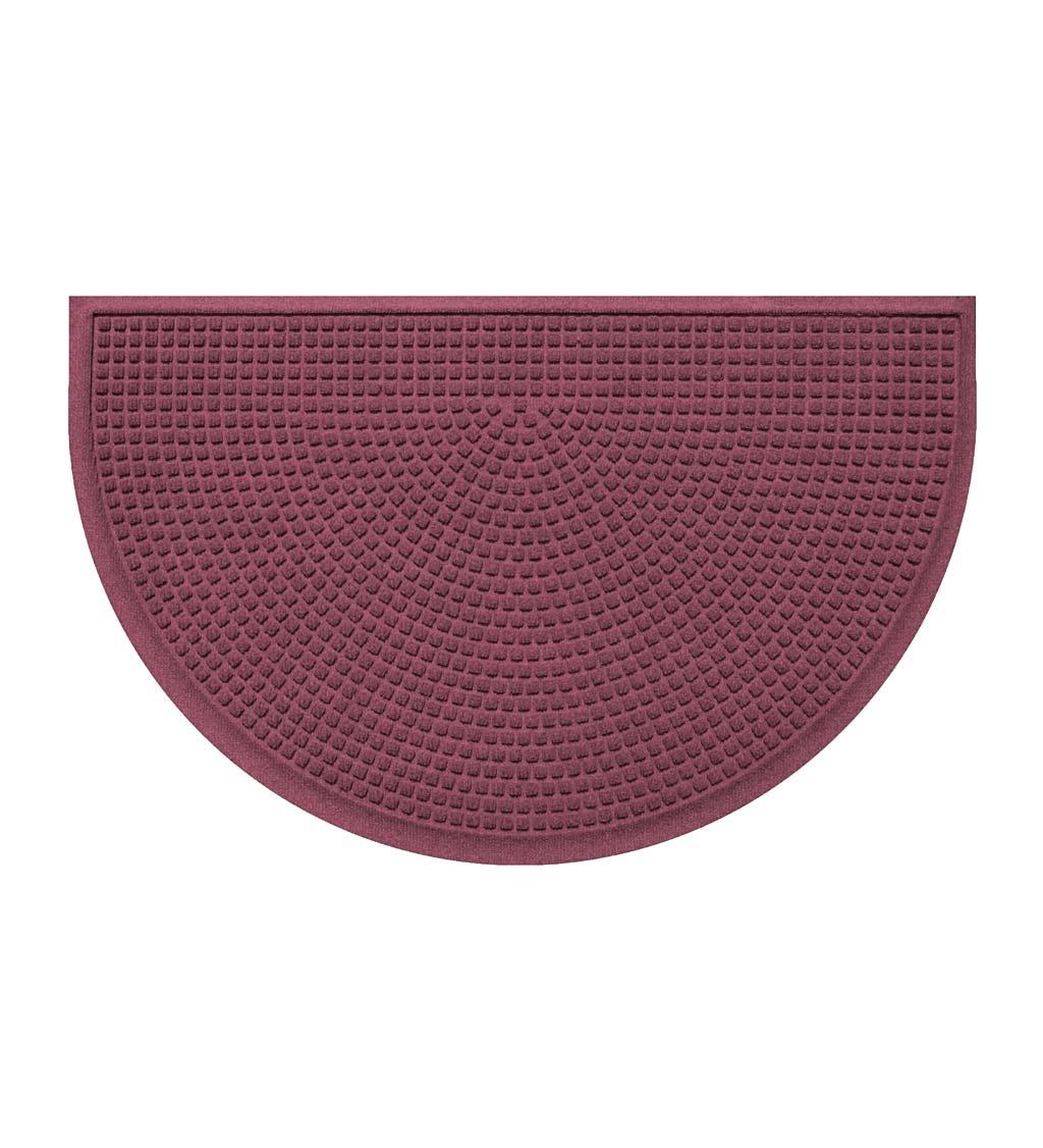 """BUNGALOW FLOORING Waterhog Indoor/Outdoor Cubes Half-Round Doormat, 24"""" x 39"""""""
