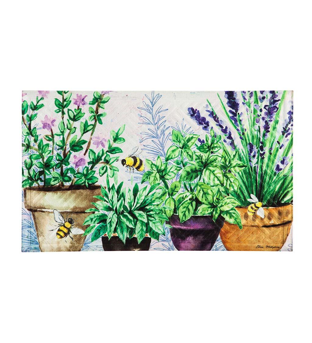 EVERGREEN ENTERPRISES INC. Indoor/Outdoor Embossed Garden Happy Place Floor Mat