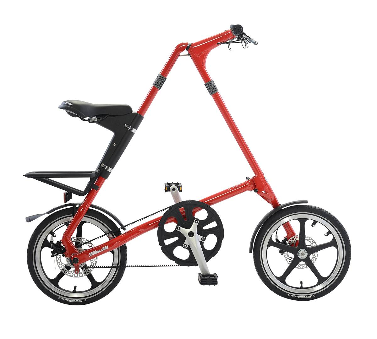 STRiDA LT Folding Bicycle, Red