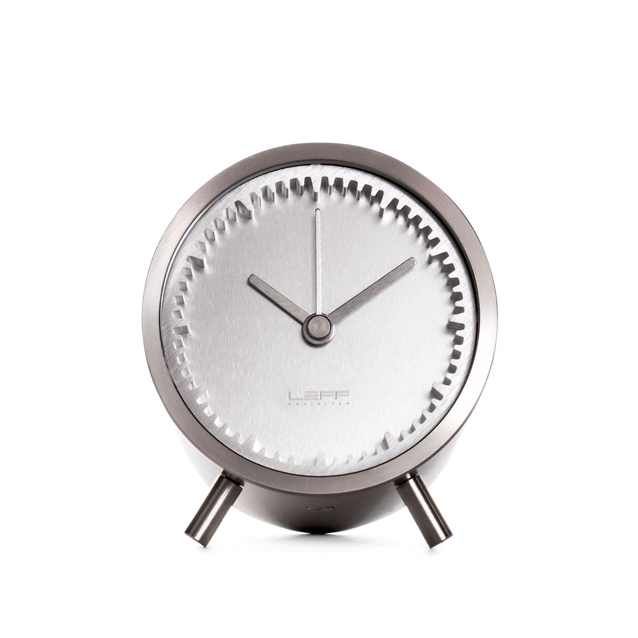 Leff Amsterdam & Piet Hein Eek's Tube Clock, Stainless Steel
