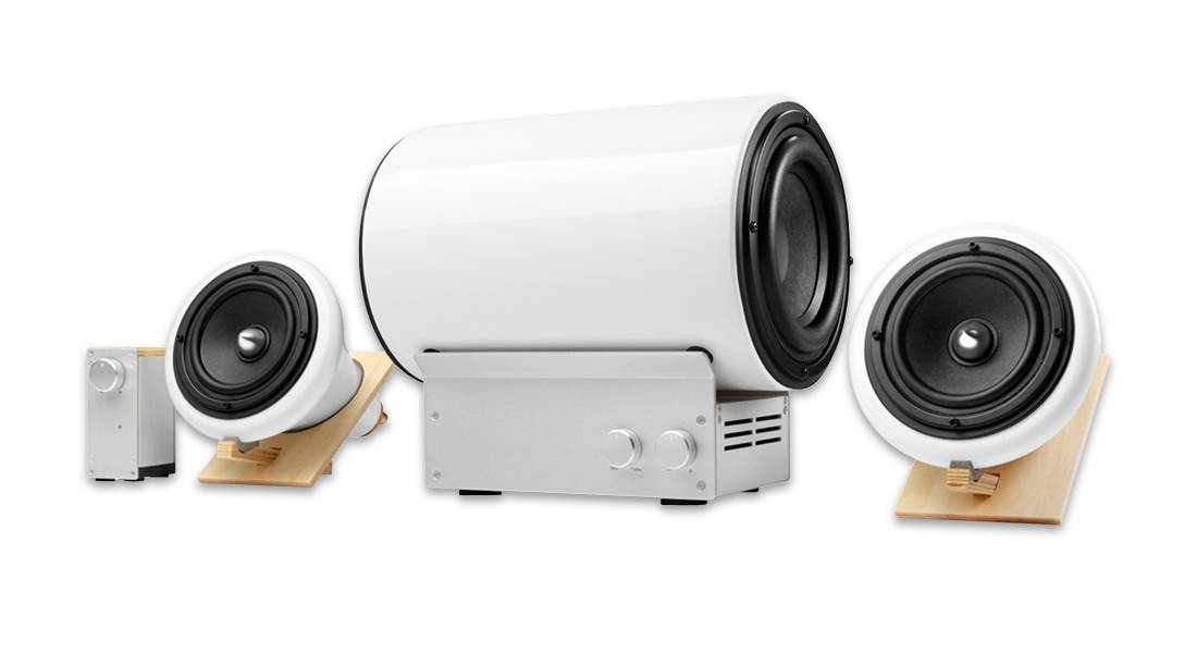 Ceramic Subwoofer & Amplifier by Joey Roth